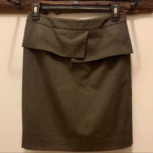 Gianni Bini olive green pencil skirt